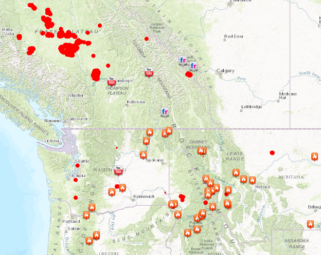 Wildfires Popping Up Danger To - Us-wildfire-activity-map